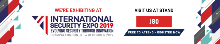 We're exhibiting at the International security expo Olympia 2019 on Stand J80