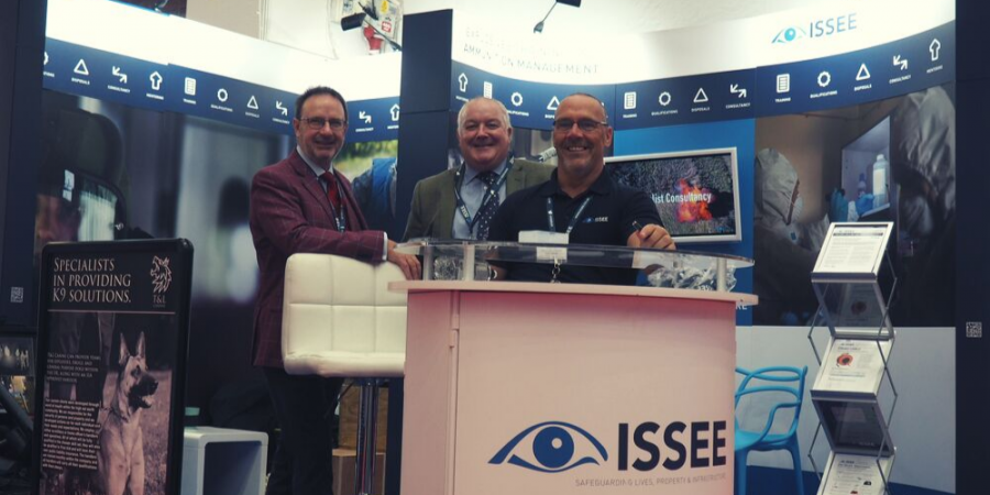 ISSEE staff at the International Security Expo in Olympia London